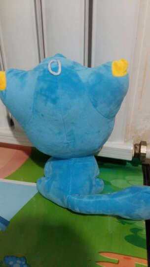 宣悦 动漫洛克王国可爱迪莫阿布毛绒玩具公仔布娃娃玩偶 儿童生日礼物 绿色喵喵 42厘米 晒单图