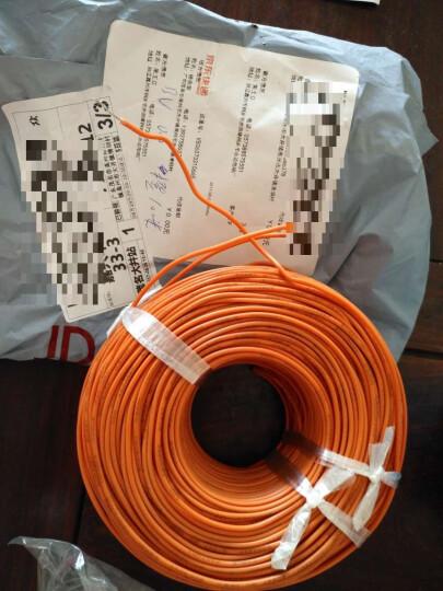 YODA 永达 国标BV0.5平方100米/纯铜芯或镀锡铜芯单芯单股硬线 国标BV0.5橙色100米 晒单图
