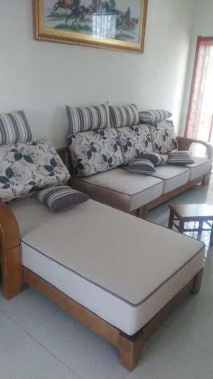 裕木源 沙发 中式实木沙发组合白蜡木布艺贵妃沙发 转角L型 客厅家具 组合2(单+三+贵妃椅转角沙发)*3.53米 晒单图