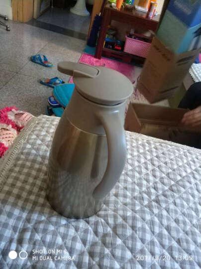 哈尔斯(HAERS) 保温壶家用暖壶热水瓶不锈钢暖水瓶热水壶暖水壶保温杯暖瓶保温瓶2L 黑紫色 晒单图