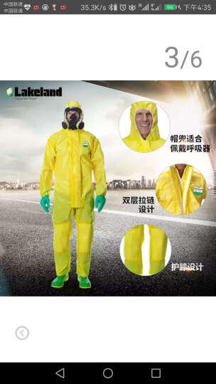 雷克兰(Lakeland)防酸碱带帽连体服防尘服无尘防化服CT1S428 XL码 晒单图