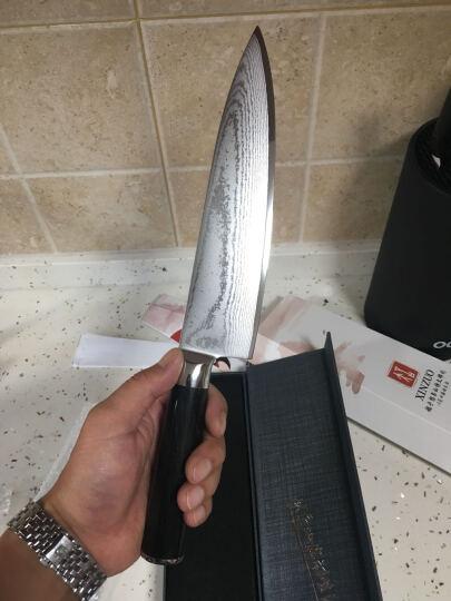 信作(XINZUO) 和系列进口VG10钢材8英寸厨师 西式主厨专业料理刀切片刀黑檀实木柄 晒单图