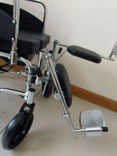 凤凰(Phoenix) 轮椅  折叠  轻便  老人带坐便 可平躺残疾人代步车 608款标配+(不含餐板)+折叠+带坐便+ 晒单图