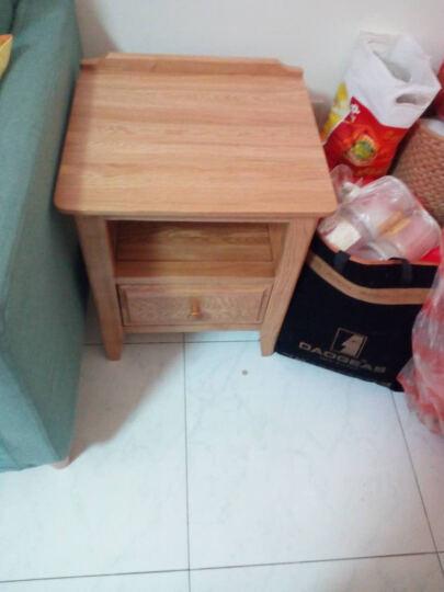 华谊 实木床头柜 橡木床头桌床边柜子 现代简约卧室家具 原木色 一抽床头柜 晒单图