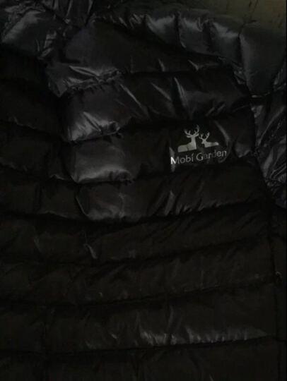 牧高笛 户外 防风防泼水轻薄男女保暖白鸭绒连帽羽绒服情侣外套 JY 曜石黑/连帽/女 L 晒单图