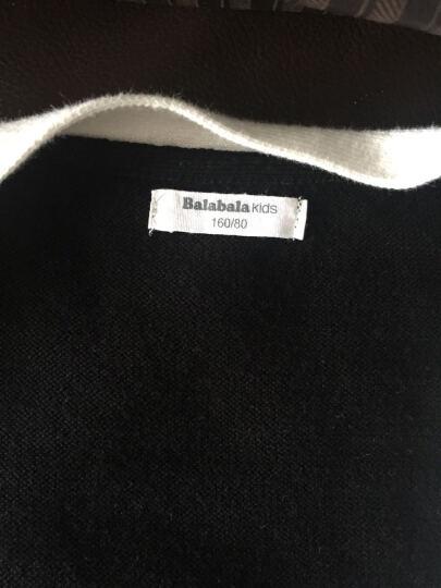 巴拉巴拉童装男童毛衣长袖中大童线衣秋新款儿童针织衫开衫男 黑色 160 晒单图