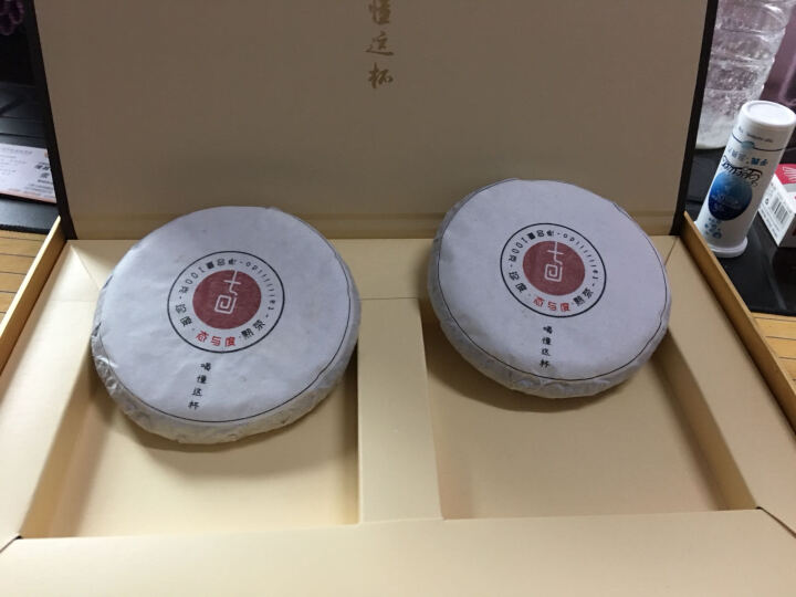【古树普洱】 茶叶 普洱茶 头春普洱熟茶饼 态与度 年份普洱 包邮 100g双饼礼盒 晒单图