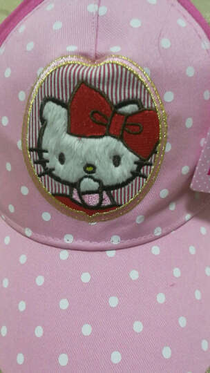 凯蒂猫(HELLO KITTY)儿童棒球帽(遮阳帽) KT4058 粉中粉 50cm 晒单图