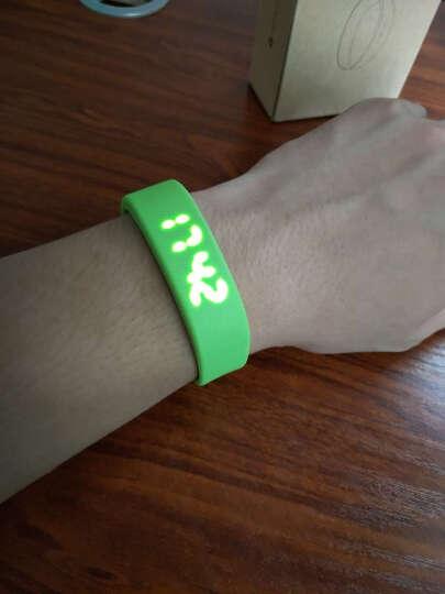 T5 非智能型 简约  运动 手环 电子手表 跑步计步器 青草绿 晒单图