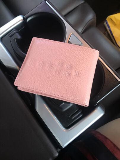 啄木鸟(TUCANO)男女士新款2018轻薄钱夹韩式头层牛皮银行卡名片夹驾驶证套软 粉色 晒单图