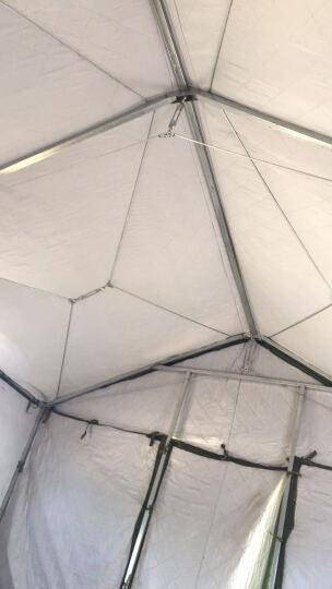 大型施工工地军绿帐篷 军工帆布帐篷夏季降温帐篷工程救灾专用  加厚3层棉冬暖夏凉 棉帐篷3×4米 住4人 晒单图