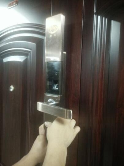 路刻(LUKE)智能锁指纹密码磁卡锁家用防盗门锁猫眼防撬app带摄像头远程对讲监控别墅双开门对开门 红古铜色〖5合一+半导体+防猫眼〗 不包安装 晒单图