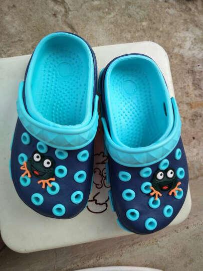 康雷克(KEIK) 儿童拖鞋男童新款卡通洞洞鞋女童花园鞋软底防滑中小童凉拖鞋沙滩鞋宝宝 粉绿(加绒) 24(14.3cm) 晒单图