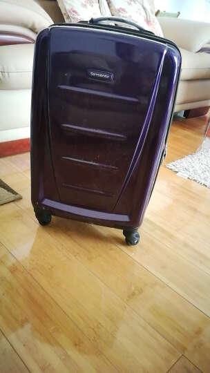 新秀丽(Samsonite)简约方正男女万向可旋转飞机轮拉杆登机箱/密码箱 20英寸紫色 晒单图