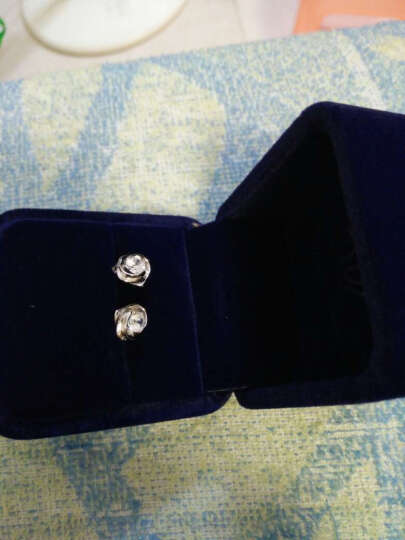 德厚缘玫瑰之心耳钉女 925银耳环情侣时尚耳饰女士韩版银饰品情人节礼物 晒单图