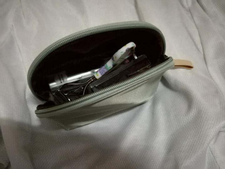 小号便携旅行简约化妆袋手拿包韩版包中包化妆品收纳包扇形化妆包 A款-仙人掌 晒单图