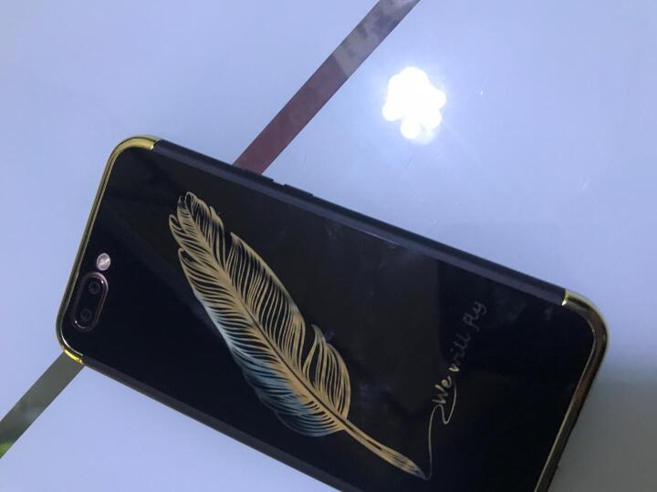 艾美森 oppor11手机壳保护套全包防摔男女款 适用于oppo r11/r11 plus R11电镀镜面亮黑哈喽(5.5英寸) 晒单图