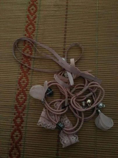 芭根草发带韩国发饰头饰头绳简约百搭丝带飘带发绳扎头发橡皮筋套装 粉色 晒单图