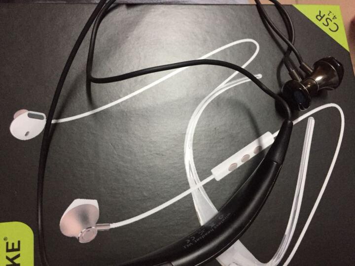 魔壳(Moke) 无线蓝牙耳机带麦迷你跑步运动车载耳塞式超长续航苹果安卓通用立体声4.1 白香槟金 晒单图