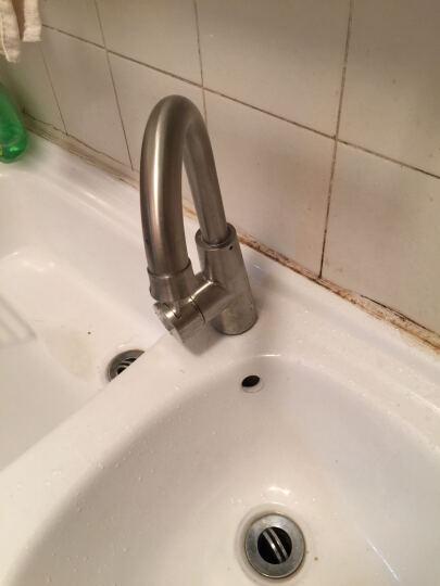 凯尼洛(KAD) 凯尼洛 304不锈钢厕所水槽洗脸盆洗手盆台上盆水龙头 冷热 面盆水龙头 E款喇叭款 晒单图