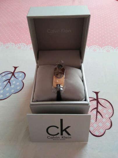 卡文克莱ck手表 女士简约手镯表 绳带防水石英表方形女腕表欧美新款 K1D23503玫瑰金 晒单图