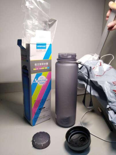 UZSPACE 优之水杯  大容量 情侣 学生 男女户外运动水壶 进口材料 安全环保 杯子 3038弹盖果绿1L 晒单图