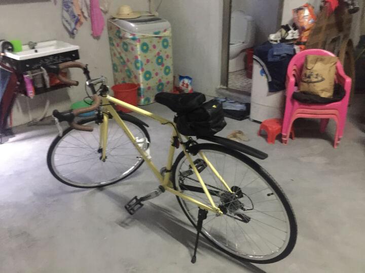 凤凰(Phoenix) 复古公路自行车14速禧玛诺变速公路车700C男女越野公路单车 复古-黄 晒单图