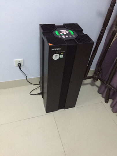 艾吉森(AGCEN) 高端智能wifi远程家用空气净化器T02 除甲醛雾霾烟尘PM2.5 深邃黑 晒单图