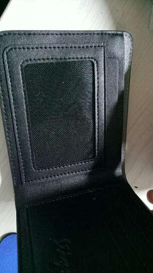 斯提亚男士钱包牛皮时尚商务短款薄钱夹男多功能手包横款 灰色 横款 晒单图