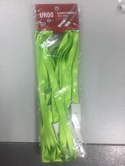 优和(UHOO) 6712 糖果色证件卡套挂绳 绿色 加厚 12根/包 胸卡吊绳 晒单图