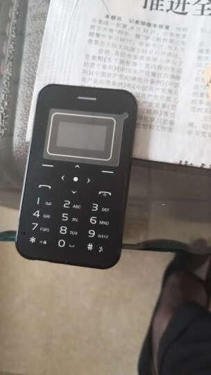 超薄卡片备用 迷你个性 袖珍学生儿童低辐射手机卡片机手机 便携 反智能 X8黑色 晒单图