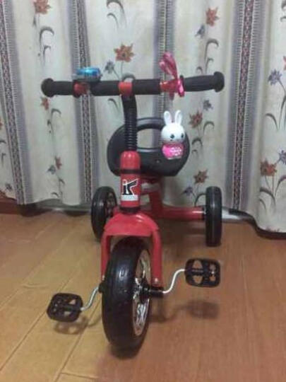 货到付款儿童三轮车儿童脚踏车宝宝三轮自行车小孩脚踏车婴儿三轮童车 音乐咖啡色三轮车 晒单图
