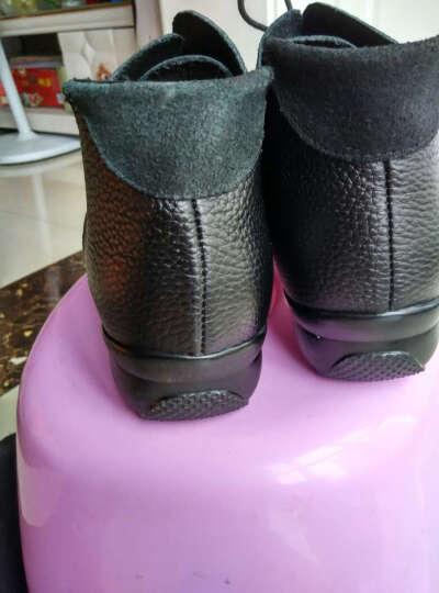 娇百惠广场舞鞋跳舞鞋秋 女式增高健身爵士鞋 透气现代舞蹈鞋真皮 红色加绒 41 晒单图