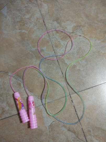 迪士尼幼儿园儿童跳绳学生跳绳米奇公主跳绳 防滑手柄小学生跳绳普通跳绳 DBA10689粉色公主彩虹跳绳 晒单图