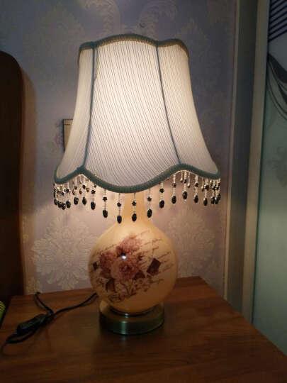 繁登堡(fandengbao) 欧式台灯卧室床头灯 美式创意客厅装饰台灯 结婚庆田园温馨 晒单图