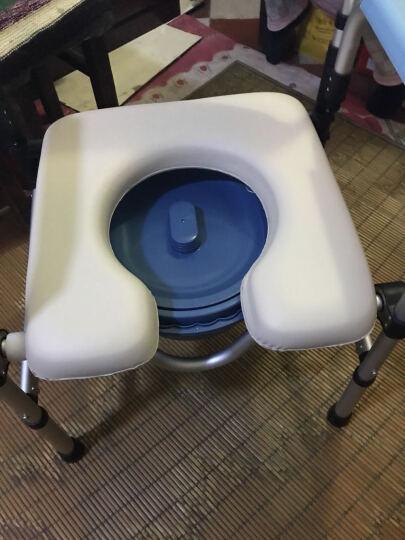 康护堂 坐便椅 老人孕妇坐便器病人移动马桶椅子座坐厕椅洗澡椅子老年人座厕椅 铝合金697 晒单图