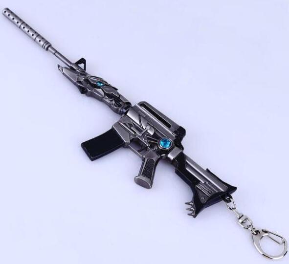 cf穿越火线英雄武器雷神王者之魄火麒麟枪模合金模型钥匙扣 17cm极光大炮 晒单图