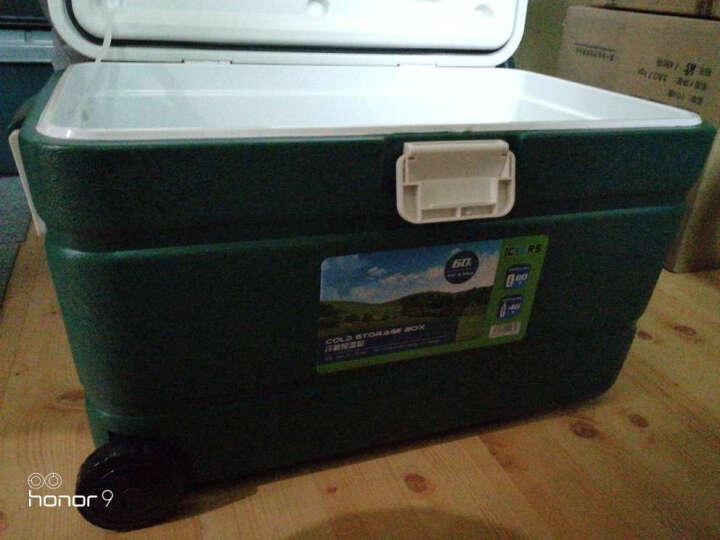 ICERS 保温箱车载药品海鲜冷藏箱 60升 有背带有轮有取物口 运输箱 晒单图