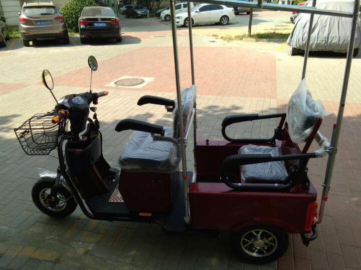 GANGNAM 【上门安装】G36老年人电动车三轮车带斗货运三轮车残疾人代步车 双人电瓶车 白色 电机600W48V配置48V20AH锂电池 晒单图