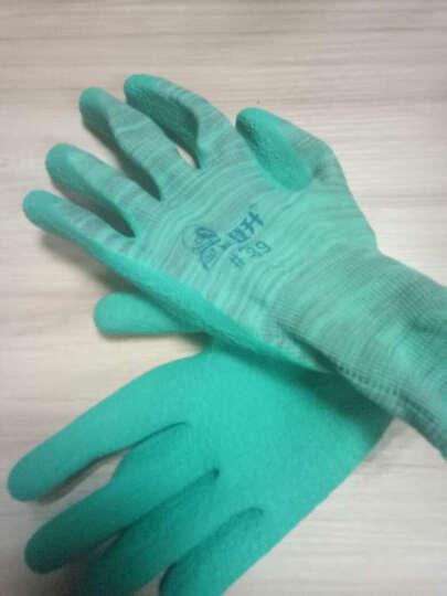 登升(DS) 劳保手套耐磨薄PU防滑浸胶手套防静电透气13针涤纶内衬电子工作手套 #669白色-7码12副 晒单图