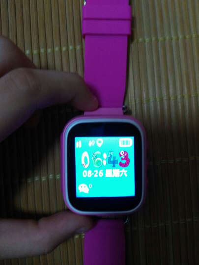 【货到付款】QIKE儿童电话手表学生呵护小天才生活防水智能定位手机有电信版 按键电信款-粉色(大彩屏+生活防水) 晒单图