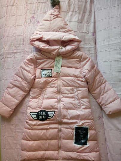 马可小熊 2016冬季新款女童加长款棉衣魔法面韩版加厚保暖 B3833 粉红色 120(建议身高115cm) 晒单图