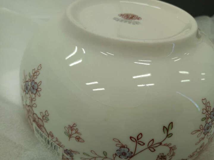敏杨 饭碗陶瓷家用碗套装(4只装)小汤碗青花瓷餐具碗4.5英寸 骨瓷花仙子 晒单图