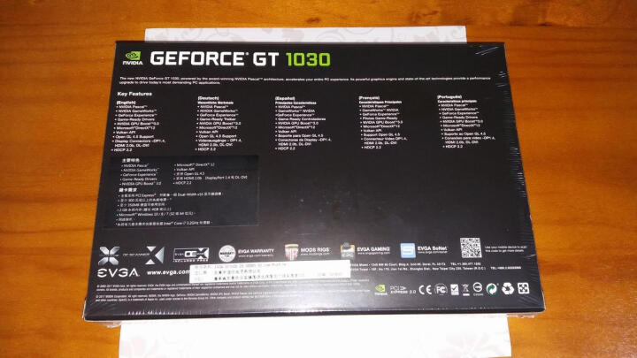 EVGA GT1030 2G GDDR5 SC Low Profile 半高显卡刀卡 晒单图