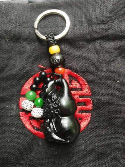 格律车饰 汽车钥匙扣 乌木雕刻工艺钥匙链 男女士腰挂钥匙链挂件 创意葫芦钥匙圈 平安符 貔貅葫芦 晒单图