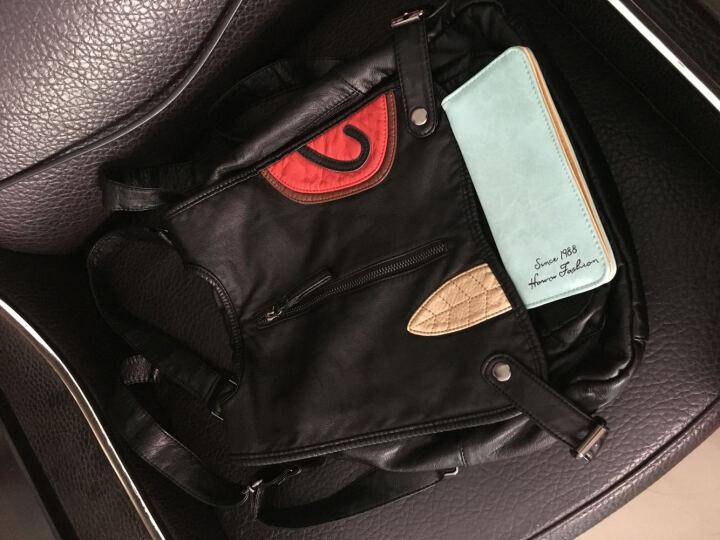 VQGT 羊皮女士真皮双肩包 女韩版 铆钉新款时尚多功能旅行背包 休闲学院风小清新女式羊皮 C款米格(三用包) 晒单图