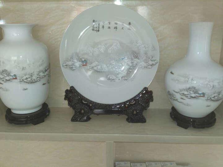 欢畅景德镇陶瓷花瓶摆件古典粉彩中式家居客厅书房玄关装饰工艺品 金荷花天球瓶带底座 晒单图