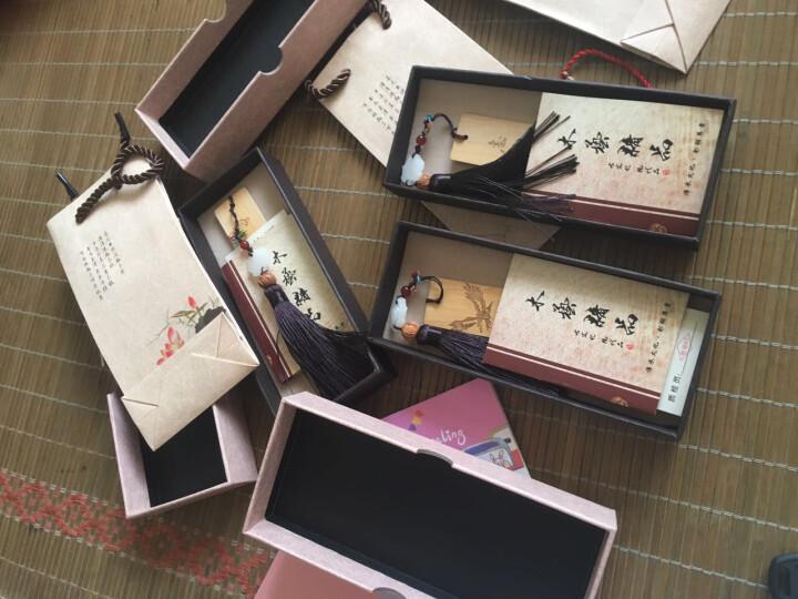 中国风创意实木书签送学生老师实用礼品送同学定制特殊创意小礼物配礼盒可DIY自由搭配代写贺卡 崖柏15号 晒单图