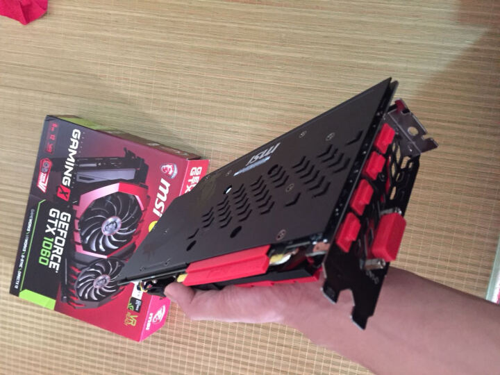 微星 MSI GTX 1060 GAMING X 6G GDDR5 192BIT PCI-E 3.0 旗舰红龙 吃鸡显卡 晒单图