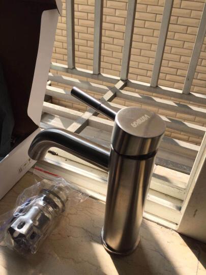 维美艺佳(VIMIKA) 304不锈钢无铅冷热水面盆水龙头 卫生间洗脸盆洗手盆台盆龙头 B款 晒单图